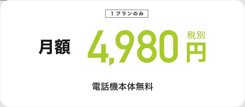 月額4980円